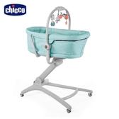【送安撫玩具】chicco-Baby Hug4合1安撫餐椅嬰兒床-粉彩藍