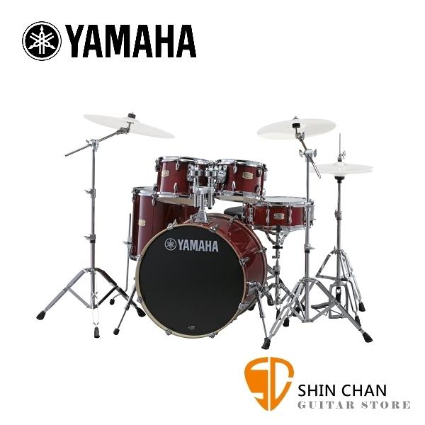YAMAHA Stage Custom Birch 爵士鼓 紅莓色 100%全樺木 附贈 原廠鼓椅、鼓墊、原廠HW780鼓架組 (不含套鈸)