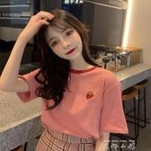 夏季2020年新款韓版衣服百搭寬鬆網紅短袖T恤女ins潮超火夏裝上衣 米娜小鋪
