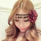 性感情趣內衣配飾透明蕾絲面具眼罩面紗玫瑰花瓣制服角色扮演高檔 完美情人