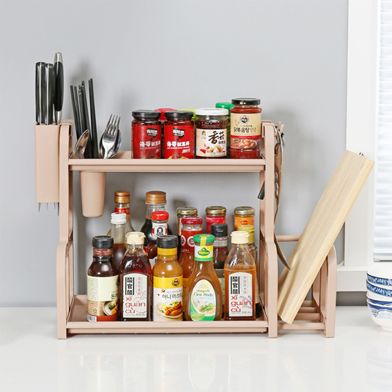 含砧板架雙層收納置物架 廚房 調味架 砧板 收納架 調味罐 刀具 餐具【W69】MY COLOR