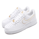 Nike 休閒鞋 Wmns Air Force 1 07 Ess 白 金 白Force 女鞋 經典款 【PUMP306】 AO2132-102