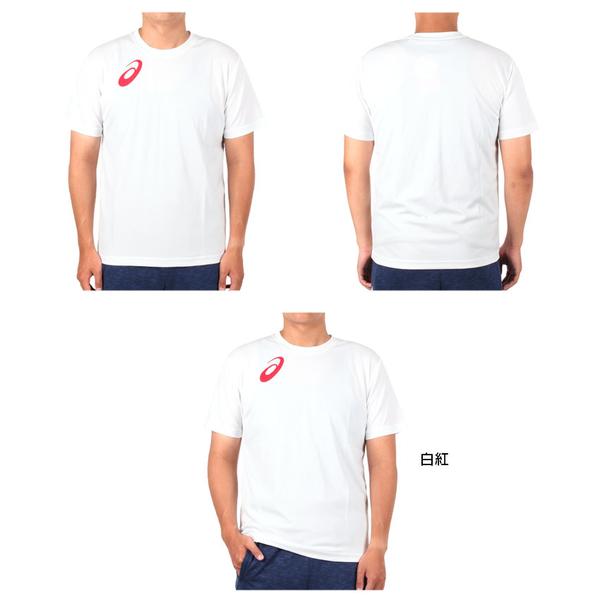 ASICS 男女限量運動排汗LOGO短袖T恤(免運 慢跑 路跑 亞瑟士≡體院≡