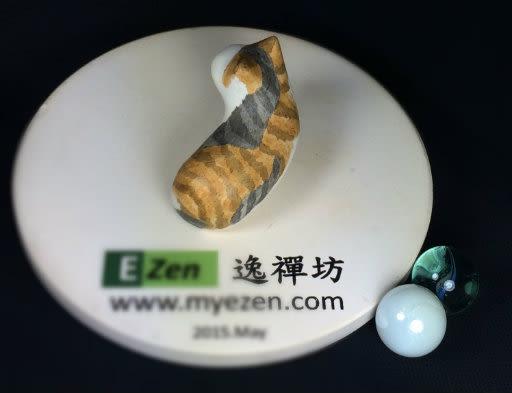 EZen 逸禪坊 療癒系 精緻 純手作 陶瓷放鬆小貓石 禪意十足 (4th Set)