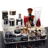 桌面化妝品收納盒 透明創意Lpm2059【男人與流行】