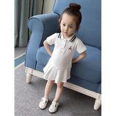 夏裝新款童裝韓版女童連身裙洋氣公主裙小童女寶寶短袖學院風裙子