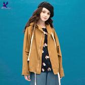 【早秋新品】American Bluedeer - 個性寬版連帽外套(魅力價) 秋冬新款