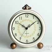 擺鐘 歐式座鐘臺鐘客廳美式大號臺式鐘錶擺鐘復古家用坐鐘時鐘桌面擺件 京都3C