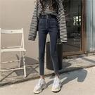 高腰加絨牛仔褲女2020年新款黑色顯瘦顯高秋冬季緊身小腳褲子外穿 童趣潮品