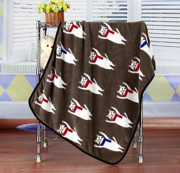【BlueCat】一起熱身運動伸展圍巾貓午睡毯 小毛毯 懶人毯 披肩 蓋毯 寵物毯