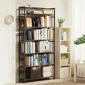 楠竹復古色書架六層90CM寬 收納架 書架 展示架 置物架 層架 【YV9964】快樂生活網