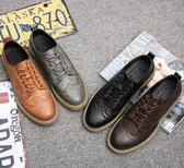英倫風厚底復古休閒鞋 時尚個性低幫皮鞋【五巷六號】x308