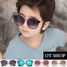 OT SHOP太陽眼鏡‧中大兒童款太陽眼鏡簡約金屬膠框質感優質中性墨鏡‧現貨四色‧K10