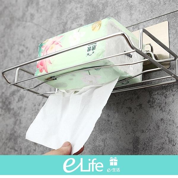 不銹鋼衛生架 浴室 廚房 不銹鋼  衛生紙 置物架 【e-Life】5142