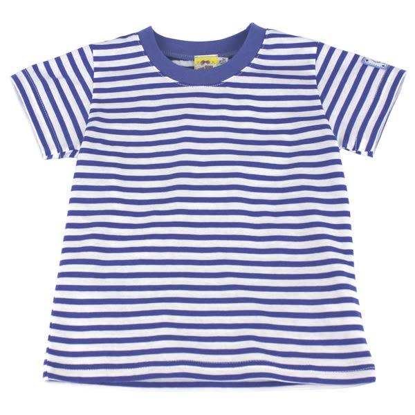 【愛的世界】純棉橫紋圓領上衣/4~6歲-台灣製- ★春夏上著