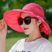 漁夫帽遮陽帽子女夏天沙灘海邊太陽帽休閒韓版百搭防曬日繫 交換禮物