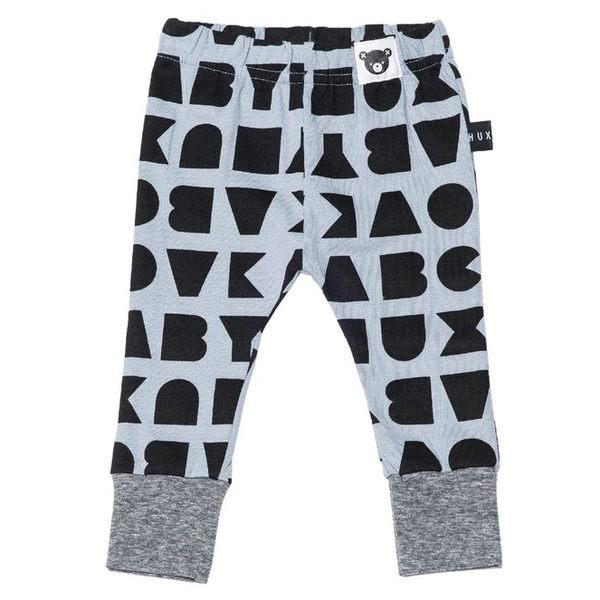 澳洲 Huxbaby 淺藍字母有機棉休閒內搭長褲 HB301