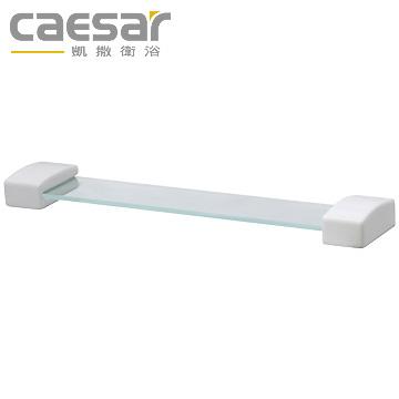 【買BETTER】凱撒波羅瓷浴室配件/浴室置物架/化妝鏡平台 瓷平台夾+玻璃平台Q990平台架
