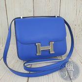 BRAND楓月 HERMES 愛馬仕 C刻 藍色 CONSTANCE 18 側背包 斜背包 肩背包