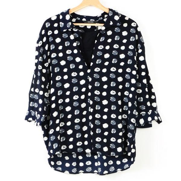 【MASTINA】兩件式文青風圓點襯衫- 藍  冬末好康