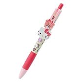 小禮堂 Hello Kitty 日製 造型原子筆 自動原子筆 玩偶筆 黑筆 (桃 大臉文具) 4550337-92390