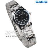 CASIO卡西歐 LTP-V001D-1B 簡約數字 指針女錶 不銹鋼 防水錶 LTP-V001D-1BUDF