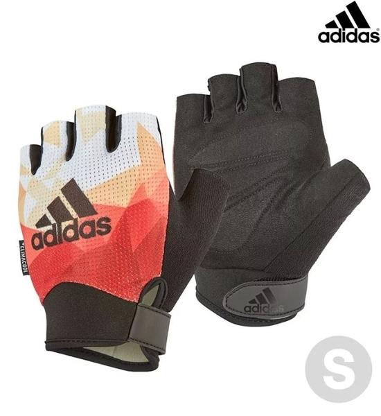 Adidas 專業女用透氣防滑手套(煥彩橙)-S