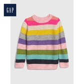 Gap女幼童彩色條紋系列圓領長袖針織衫512668-狂熱條紋