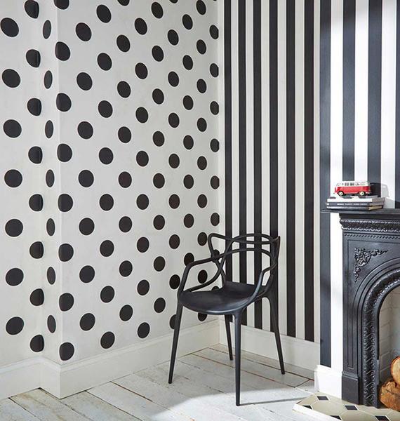 【進口牆紙】格蘭布朗【52cm×10m/卷】黑白條紋 英國壁紙 Kids to teen Collection Monochrome Stripe100099