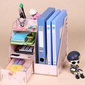 A4紙木質辦公室桌面收納盒資料架