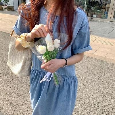 日系洋裝~長版長裙~韓版寬松薄款牛仔裙連身裙#2670N515愛尚布衣