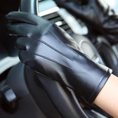 觸摸屏多功能皮手套女冬加絨加厚專用賽車山地車車用自行車機車叢林之家