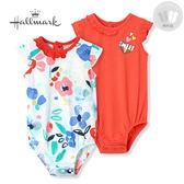 Hallmark Babies 街頭風格系列春夏女嬰短袖包屁衣套裝組(兩件裝) HH1Y0235BGPO