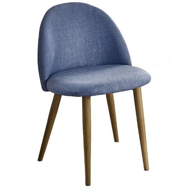 餐椅 SB-931-16 喬絲藍布鐵藝餐椅【大眾家居舘】