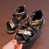 聖誕禮物夏季女童涼鞋公主鞋羅馬涼鞋兒童沙灘鞋寶寶鞋女童鞋 全館免運