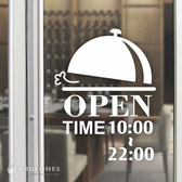 【ARDENNES】營業時間貼 / 開店時間 / 店面、公共場所 防水貼紙  PCT017上菜囉