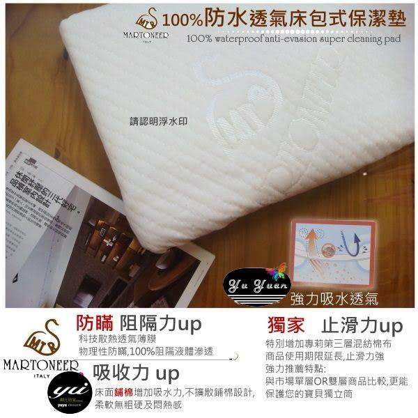 MARTONEER『舒柔毛巾布/防水保潔墊』100%防水/防瞞/散熱薄膜/(3.5*6.2尺)單人