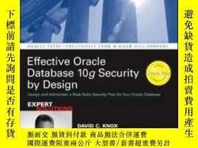 二手書博民逛書店Effective罕見Oracle Database 10g Security By DesignY36468