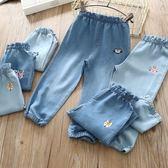 618好康鉅惠女童薄款軟牛仔女寶寶寬鬆休閒長褲防蚊褲