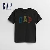 Gap男童 創意印花圓領短袖T恤 678936-黑色