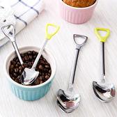 【BlueCat】鏟子產子 偽裝系小鏟子握柄湯匙叉子不鏽鋼餐具 (大號)