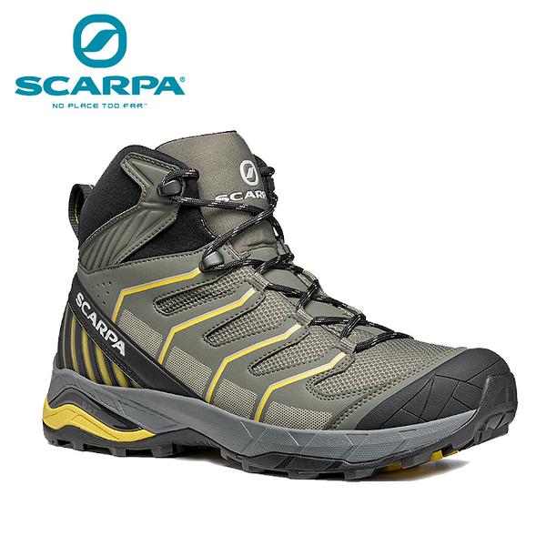 【速捷戶外】義大利 SCARPA MAVERICK MID GTX 63090-200 男中筒輕量化GTX防水登山鞋 綠橄欖/硫磺