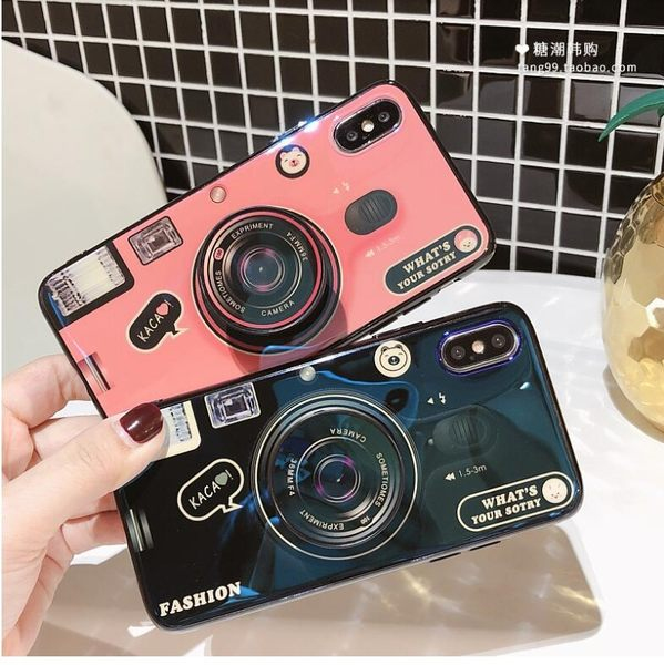 紅米6 手機殼 創意 藍光 相機 保護套 全包 軟殼 同款氣囊支架 防摔 保護殼
