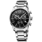 CK CALVIN KLEIN City 都會系列 K2G27143 三眼計時手錶-43mm