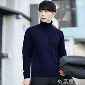 黑色高領毛衣男韓版潮流個性帥氣修身學生加厚男士打底針織衫 小艾時尚