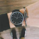手錶男學生韓版簡約潮流ulzzang中學生時尚皮帶女表休閒石英潮表 卡布奇诺