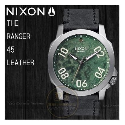 【南紡購物中心】NIXON 實體店THE RANGER 45 LEATHER軍事攻略真皮腕錶 公司貨A466-2069