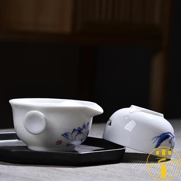 2個裝 茶具一壺一杯便茶具車載戶外辦公室陶瓷功夫茶具套裝【雲木雜貨】