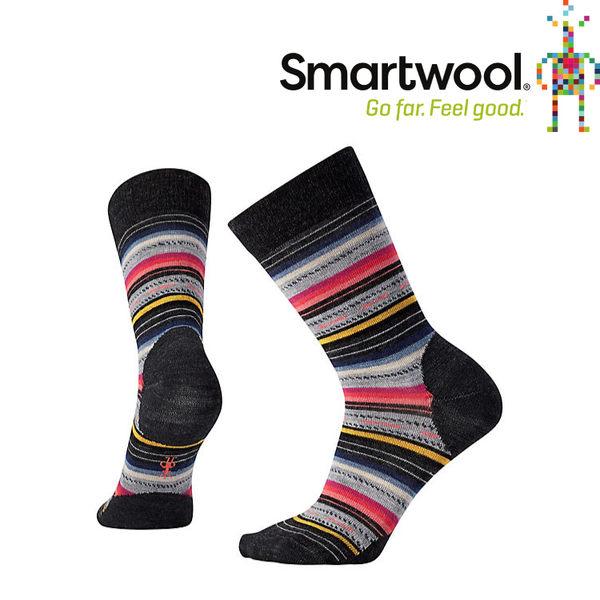 【SmartWool 美國 女款 瑪格麗特紋中長襪《炭黑條紋》】SW0SW717/排汗襪/保暖襪/抗臭襪★滿額送