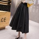 蓬蓬裙 春夏山本風半身裙日系復古文藝學生中長款大擺傘裙A子小黑裙-Ballet朵朵